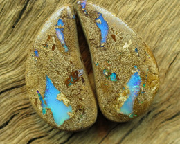 29cts, PIPE OPAL~PATTERN PAIR.