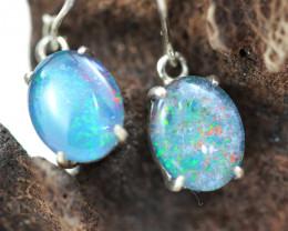 Gem Opal Triplet set in Silver Swing   Earring  OPJ282