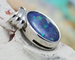 Large Gem Opal Triplet set in Silver  Pendant  OPJ28