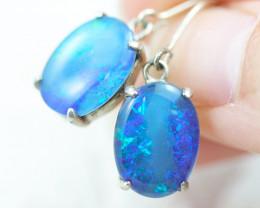 Gem Opal Triplet set in Silver   Earring  OPJ2866