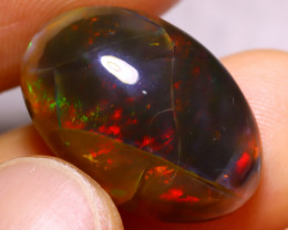 12.78cts Ethiopian DARK Crystal Polished Opal / BK04