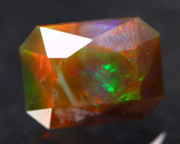 3.26Ct Rainbow Broadflash Natural Ethiopian Faceted Welo Brown Opal H71