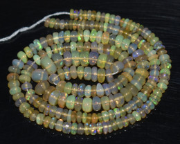 33.50 Ct Natural Ethiopian Welo Opal Beads Play Of Color OB965