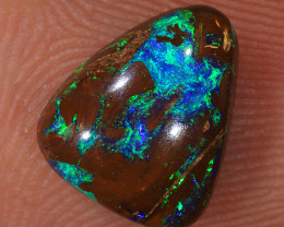 1.75ct 9.5x8mm Yowah Boulder Opal Wood Fossil [LOB-3150]