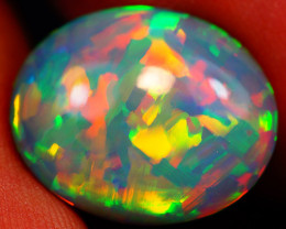 6.63 CT DARK BASE! COLLECTOR GRADE FLASHY WELO ETHIOPIAN OPAL-GBB91