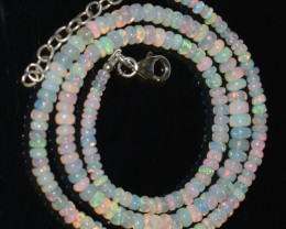 41.20 CT OPAL NECKLACE MADE WITH NATURAL ETHIOPIAN BEADS A-1