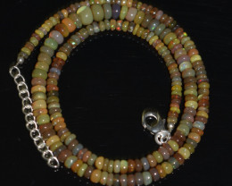 43.85 CT OPAL NECKLACE MADE WITH NATURAL ETHIOPIAN BEADS A-11