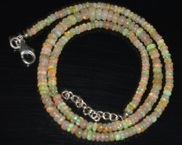 37.65 CT OPAL NECKLACE MADE WITH NATURAL ETHIOPIAN BEADS A-12