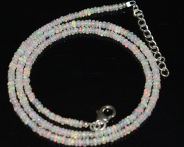 22.95 CT OPAL NECKLACE MADE WITH NATURAL ETHIOPIAN BEADS A-13