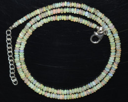 24.55 CT OPAL NECKLACE MADE WITH NATURAL ETHIOPIAN BEADS A-15