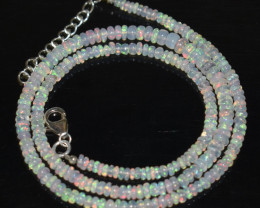35.00 CT OPAL NECKLACE MADE WITH NATURAL ETHIOPIAN BEADS A-16