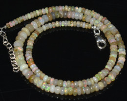 52.85 OPAL NECKLACE MADE WITH NATURAL ETHIOPIAN BEADS  A-18