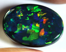 N1-17.17CTS BLACKOPAL stone CHINESE WRITING  INV-1711AS/AI-investmentopals