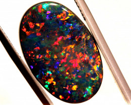 N1 - 9.43 CTS QUALITY BLACK OPAL POLISHED STONE  INV-1901AS/A