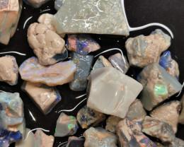 Beginners Rough Opal Lot 575.00 cts Black Opals Lightning Ridge BORA180120