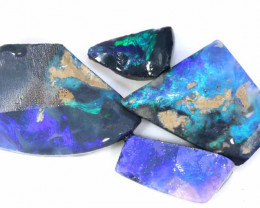 30 CTS -  BLACK OPAL ROUGH  PARCEL (4 PCS ) DT-7264