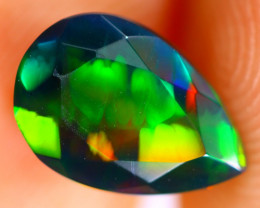 1.18cts Natural Ethiopian Smoked Faceted Black Opal / BF1052