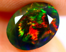 1.21cts Natural Ethiopian Smoked Faceted Black Opal / BF1053