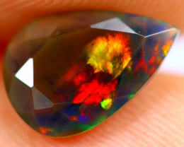 0.92cts Natural Ethiopian Smoked Faceted Black Opal / BF1054