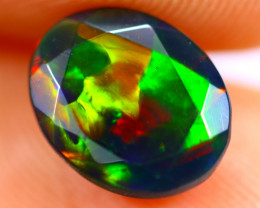 1.30cts Natural Ethiopian Smoked Faceted Black Opal / BF1063