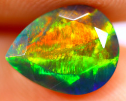 1.65cts Natural Ethiopian Smoked Faceted Black Opal / BF1066