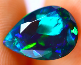 1.63cts Natural Ethiopian Smoked Faceted Black Opal / BF1067