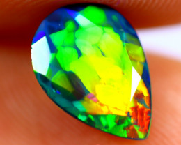 1.22cts Natural Ethiopian Smoked Faceted Black Opal / BF1069