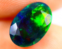 1.73cts Natural Ethiopian Smoked Faceted Black Opal / BF1073