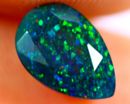 1.05cts Natural Ethiopian Smoked Faceted Black Opal / BF1076