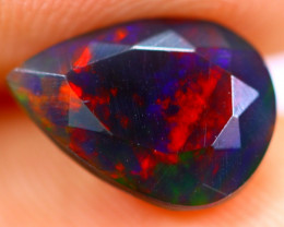 1.33cts Natural Ethiopian Smoked Faceted Black Opal / BF1077