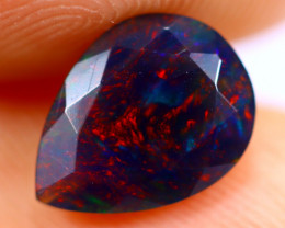 0.85cts Natural Ethiopian Smoked Faceted Black Opal / BF1079
