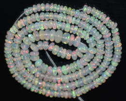 27.70 Ct Natural Ethiopian Welo Opal Beads Play Of Color OB979