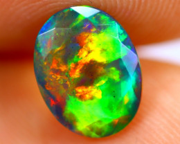 1.08cts Natural Ethiopian Smoked Faceted Black Opal / BF1113