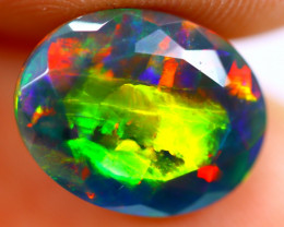 2.09cts Natural Ethiopian Smoked Faceted Black Opal / BF1114