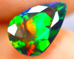 1.51cts Natural Ethiopian Smoked Faceted Black Opal / BF1116