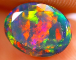 1.25cts Natural Ethiopian Smoked Faceted Black Opal / BF1117