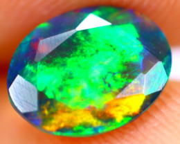1.10cts Natural Ethiopian Smoked Faceted Black Opal / BF1118