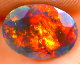 1.02cts Natural Ethiopian Smoked Faceted Black Opal / BF1119