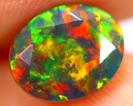 1.46cts Natural Ethiopian Smoked Faceted Black Opal / BF1120
