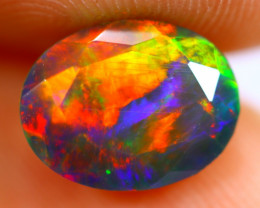 1.28cts Natural Ethiopian Smoked Faceted Black Opal / BF1121