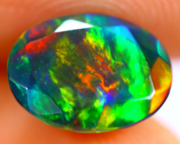 1.44cts Natural Ethiopian Smoked Faceted Black Opal / BF1125