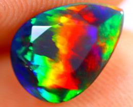 1.18cts Natural Ethiopian Smoked Faceted Black Opal / BF1127