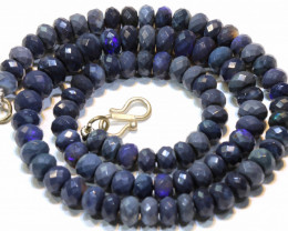 100 CTS   BLACK OPAL BEADS NECKLACE  DRILLED  TBO-902