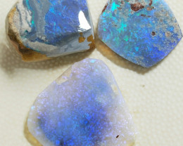 29.0Cts  Black Crystal Opal Rubs BB-638