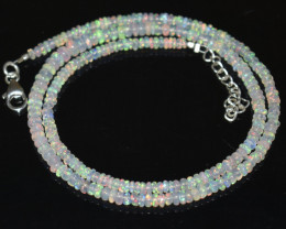 33.60 CT  OPAL NECKLACE MADE WITH NATURAL ETHIOPIAN BEADS OBJ-90