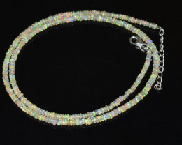 20.80 CT OPAL NECKLACE MADE WITH NATURAL ETHIOPIAN BEADS OBJ-94