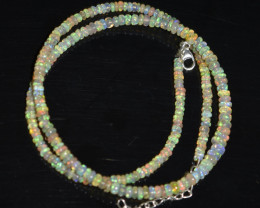 33.55 CT OPAL NECKLACE MADE WITH NATURAL ETHIOPIAN BEADS OBJ-97