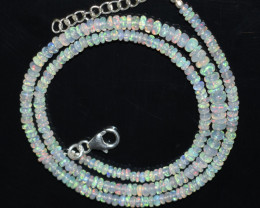 34.25 CT OPAL NECKLACE MADE WITH NATURAL ETHIOPIAN BEADS OBJ-98