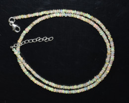 19.10 CT  OPAL NECKLACE MADE WITH NATURAL ETHIOPIAN BEADS OBJ-99