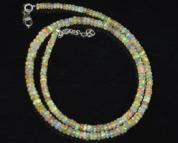 38.95 CT OPAL NECKLACE MADE WITH NATURAL ETHIOPIAN BEADS OBJ-103